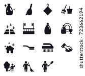 16 vector icon set   cleanser ... | Shutterstock .eps vector #723662194