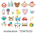 set of baby icon  infant icon.... | Shutterstock .eps vector #723670123