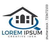 home inspection logo template.... | Shutterstock .eps vector #723672103
