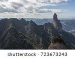 china karst landform mountains   Shutterstock . vector #723673243