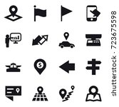 16 vector icon set   pointer ... | Shutterstock .eps vector #723675598