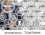 Small photo of Legislation Compliance Regulations Business Legal Law concept. Lawyer presses legislation text button on a virtual touch screen.