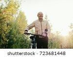 senior caucasian man go for a... | Shutterstock . vector #723681448