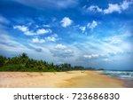 beach and tropical sea. | Shutterstock . vector #723686830