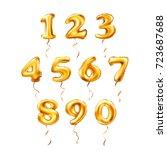 raster copy golden number 1  2  ... | Shutterstock . vector #723687688