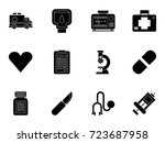 medical icons | Shutterstock .eps vector #723687958