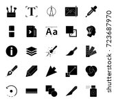 design tools icons | Shutterstock .eps vector #723687970
