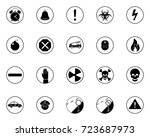 alerts icons | Shutterstock .eps vector #723687973