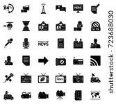 news icons | Shutterstock .eps vector #723688030
