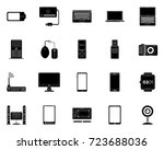 devices icons | Shutterstock .eps vector #723688036