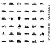 transportation icons   Shutterstock .eps vector #723688219