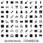 audio icons   Shutterstock .eps vector #723688228
