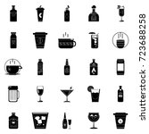 drinks icons | Shutterstock .eps vector #723688258