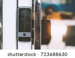 key card access control at... | Shutterstock . vector #723688630