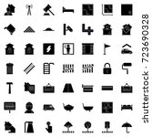 real estate icons | Shutterstock .eps vector #723690328