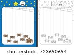preschool worksheet for... | Shutterstock .eps vector #723690694
