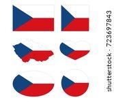 vector illustration of czech... | Shutterstock .eps vector #723697843