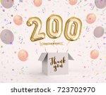 200 follower 200 like thank you ... | Shutterstock . vector #723702970