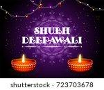 diwali  indian festival of... | Shutterstock .eps vector #723703678