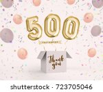 500 follower  500 like thank... | Shutterstock . vector #723705046