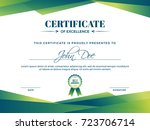 certificate of appreciation... | Shutterstock .eps vector #723706714