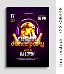 night party flyer or banner... | Shutterstock .eps vector #723708448