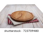 napkin. stack of colorful dish... | Shutterstock . vector #723709480