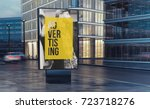 advertising billboard on the... | Shutterstock . vector #723718276