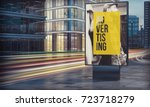 advertising billboard in city... | Shutterstock . vector #723718279