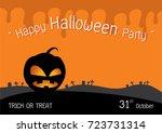 happy halloween party | Shutterstock .eps vector #723731314