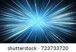 Radial Blur Blue Rays. Compute...