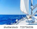 yacht near sardinia island   Shutterstock . vector #723736336
