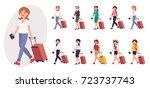 cartoon character design female ... | Shutterstock .eps vector #723737743