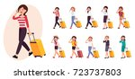 cartoon character design female ... | Shutterstock .eps vector #723737803