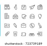 office   business icon set   ... | Shutterstock .eps vector #723739189
