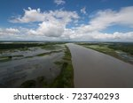 the helicopter shot from dhaka  ...   Shutterstock . vector #723740293
