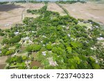 the helicopter shot from dhaka  ...   Shutterstock . vector #723740323
