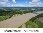 the helicopter shot from dhaka  ... | Shutterstock . vector #723740428