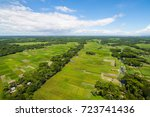 the helicopter shot from dhaka  ...   Shutterstock . vector #723741436