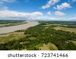 the helicopter shot from dhaka  ... | Shutterstock . vector #723741466