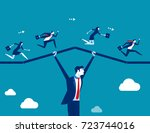 support business. teamwork... | Shutterstock .eps vector #723744016