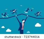 support business. teamwork... | Shutterstock .eps vector #723744016