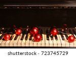 Piano Keyboard With Christmas...