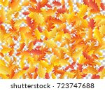 oak leaf abstract background... | Shutterstock .eps vector #723747688