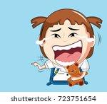 vector illustration of cartoon...   Shutterstock .eps vector #723751654
