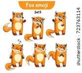 set kit collection sticker...   Shutterstock .eps vector #723763114