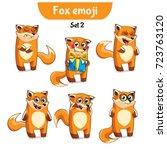 set kit collection sticker...   Shutterstock .eps vector #723763120