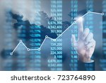 analysing illustrated chart... | Shutterstock . vector #723764890