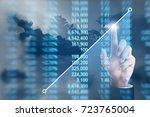 analysing illustrated chart... | Shutterstock . vector #723765004