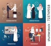 arab business people 2x2 design ...   Shutterstock .eps vector #723769018